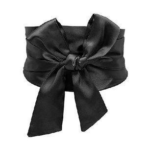 NWT Black Satin Japanese Obi Corset Belt